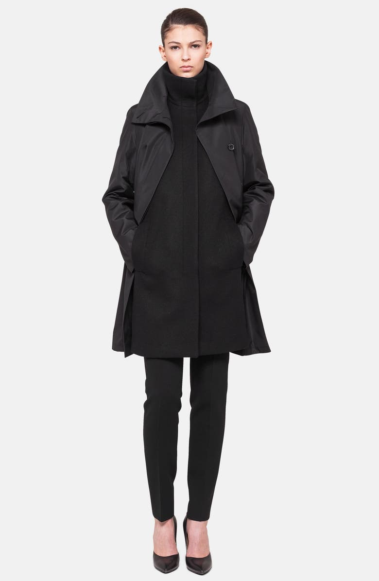 AKRIS 3-in-1 Technical Coat, Main, color, BLACK