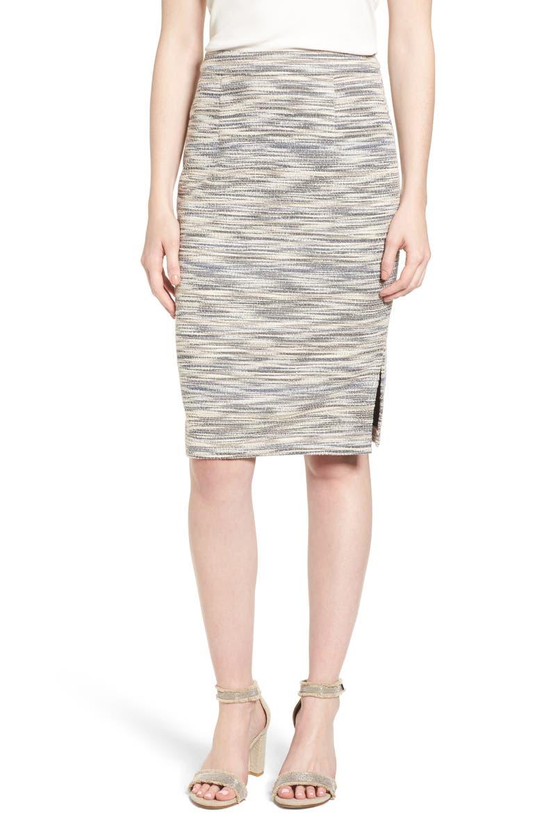 HALOGEN<SUP>®</SUP> Side Slit Pencil Skirt (Regular & Petite, Main, color, 900