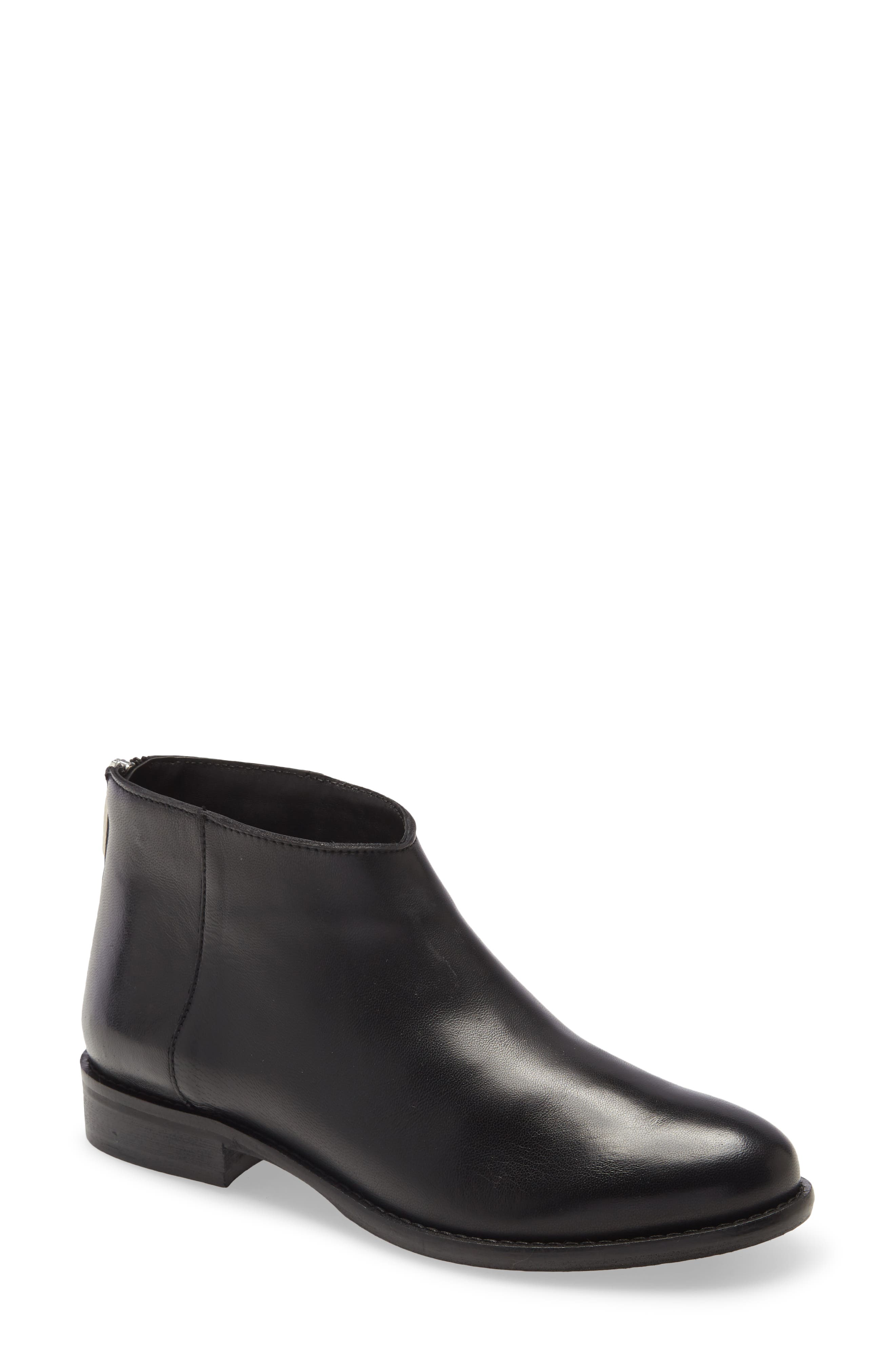 A low-profile silhouette defines a menswear-inspired boot made from smooth leather and fit with a cushy footbed. Style Name: Cordani Blaise Ankle Boot (Women). Style Number: 6102534. Available in stores.