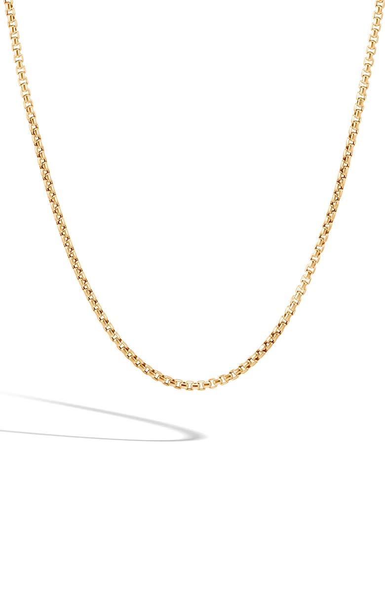 JOHN HARDY Men's 18K Gold Box Chain Necklace, Main, color, 710