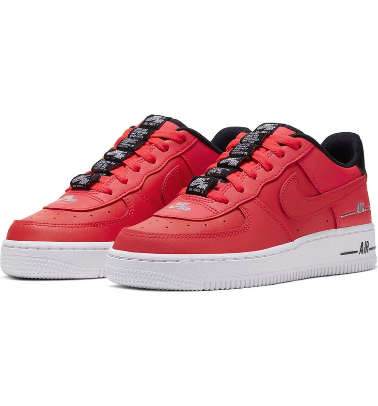 NIKE Air<sup>®</sup> Force 1 LV8 3 Sneaker, Main, color, LASER CRIMSON/ BLACK/ WHITE