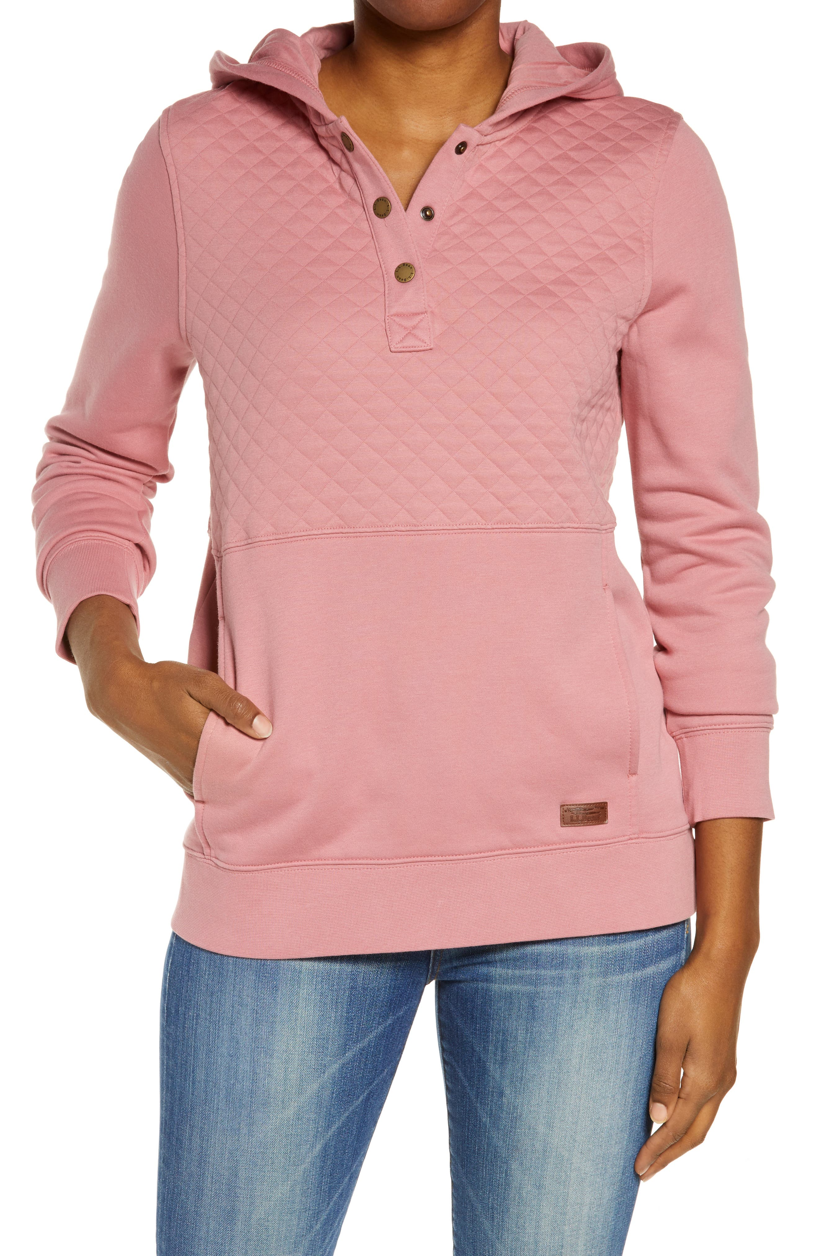 Quilted Hooded Sweatshirt