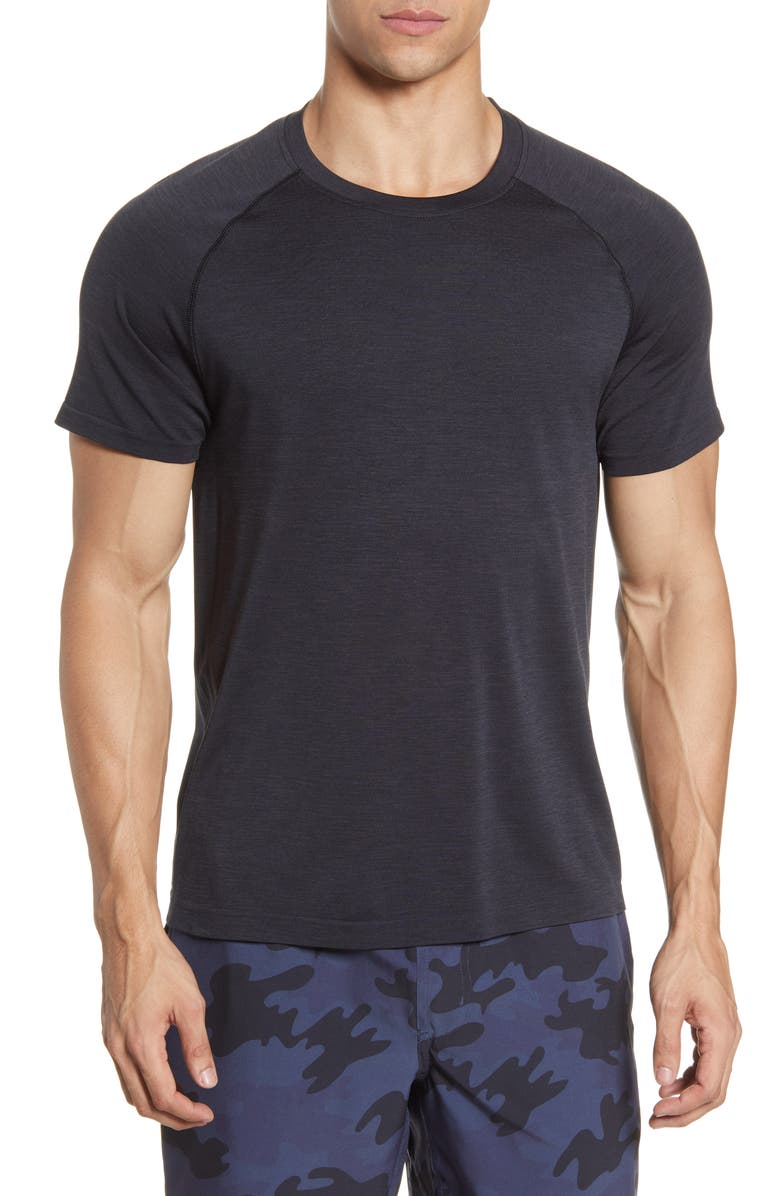 RHONE Reign Tech Perforated Yoke Training T-Shirt, Main, color, BLACK