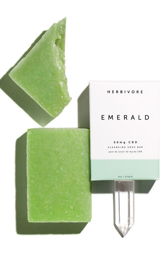Herbivore Botanicals Emerald Cbd Cleansing Soap Bar In N,a