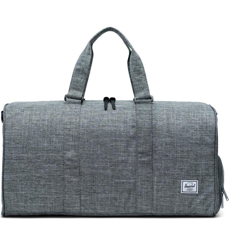HERSCHEL SUPPLY CO. Novel Duffel Bag, Main, color, RAVEN CROSSHATCH