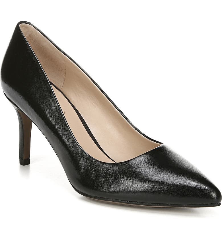 FRANCO SARTO Bellini Pump, Main, color, BLACK LEATHER