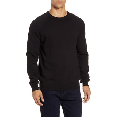 French Connection Solid Crewneck Sweater, Black