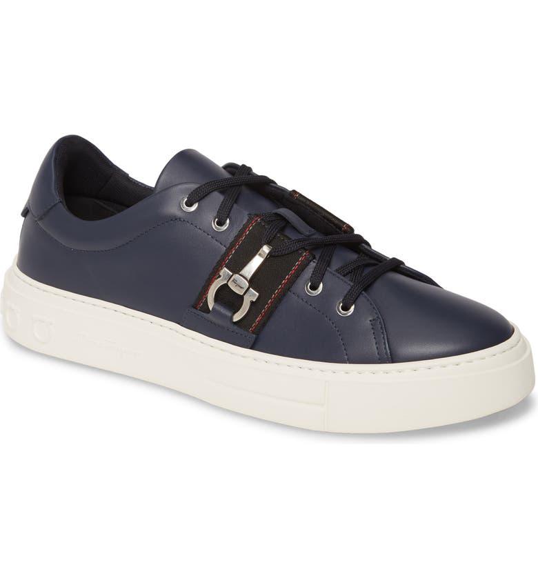 SALVATORE FERRAGAMO Sultan Sneaker, Main, color, BLUE MARINE / NERO