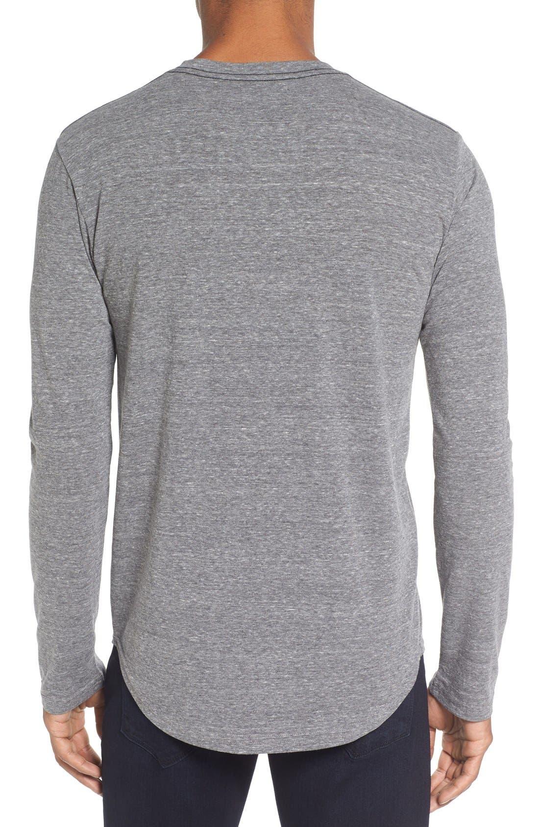 ,                             Triblend Scallop Long Sleeve Crewneck T-Shirt,                             Alternate thumbnail 11, color,                             020