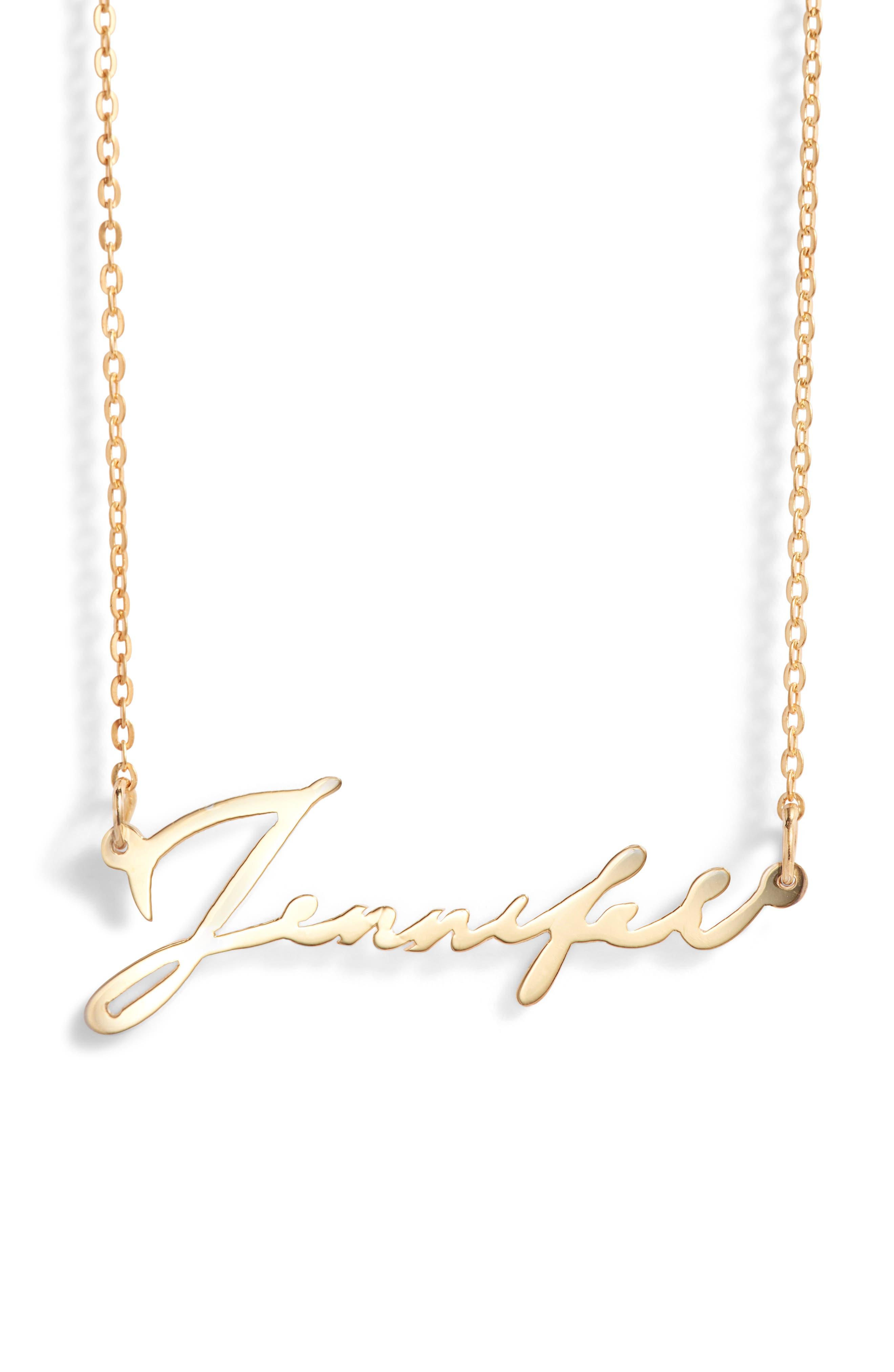 Women's Argento Vivo Personalized Script Name Necklace