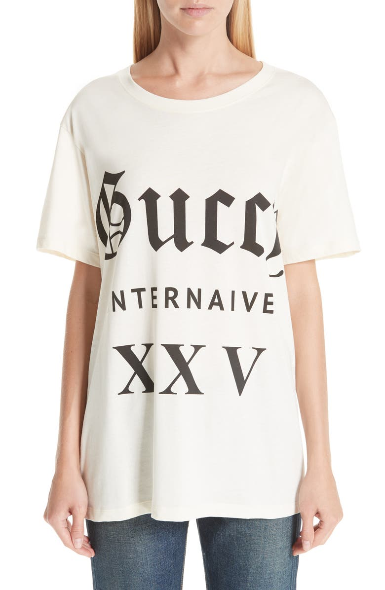 77ab0dab Gucci Guccy Internaive Print Cotton Jersey Tee | Nordstrom