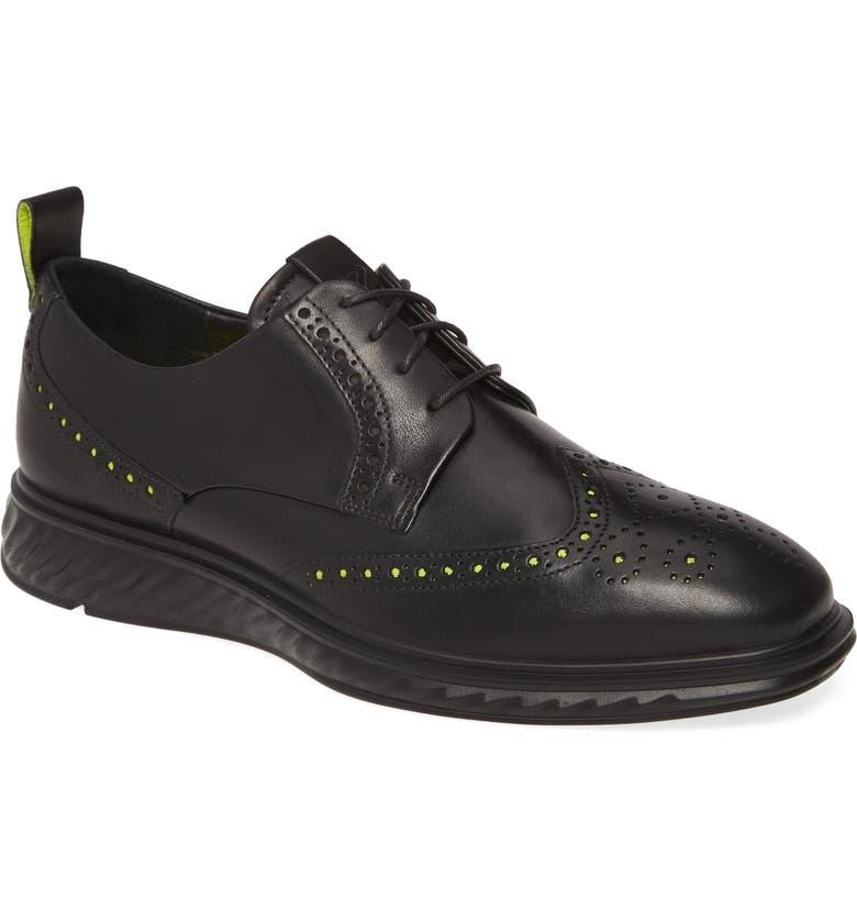 ECCO ST.1 Hybrid Lite Wingtip, Main, color, BLACK