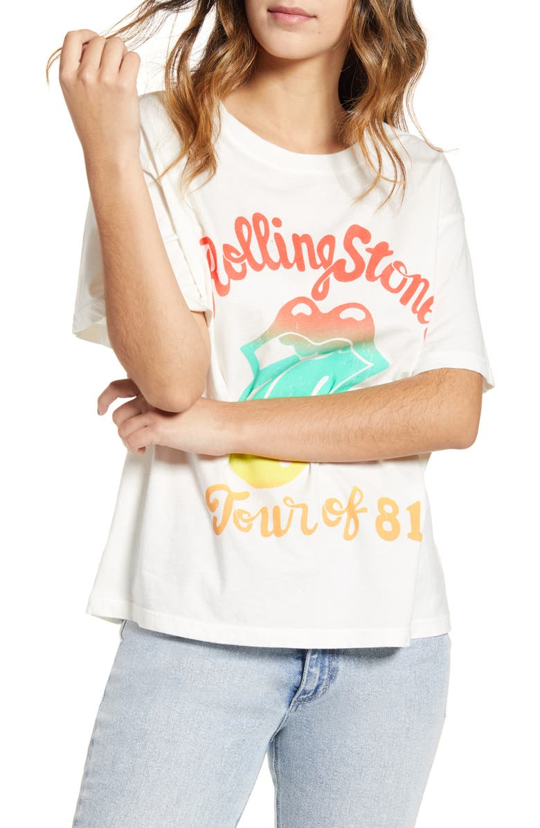 DAY Rolling Stones '81 Tour Tee, Main, color, VINTAGE WHITE