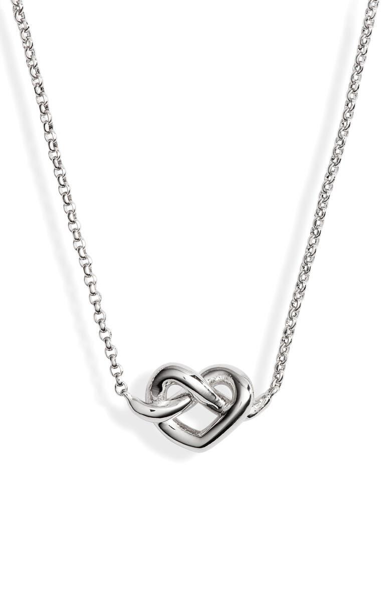 loves me knot mini pendant necklace