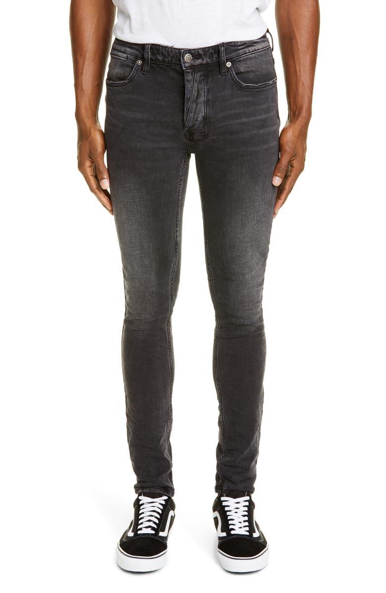 KSUBI Van Winkle Angst Skinny Jeans, Main, color, BLACK