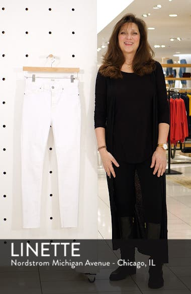 Barbara High Waist Raw Hem Ankle Skinny Jeans, sales video thumbnail