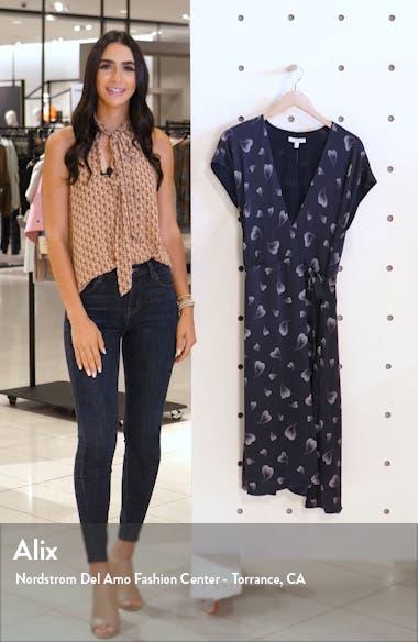 Bethwyn Heart Print Wrap Silk Dress, sales video thumbnail