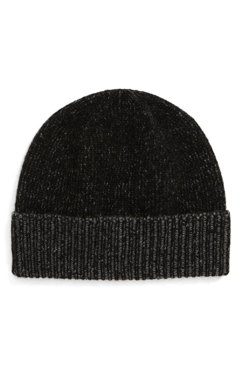 FRYE Plaited Colorblock Cuff Beanie, Main, color, 001