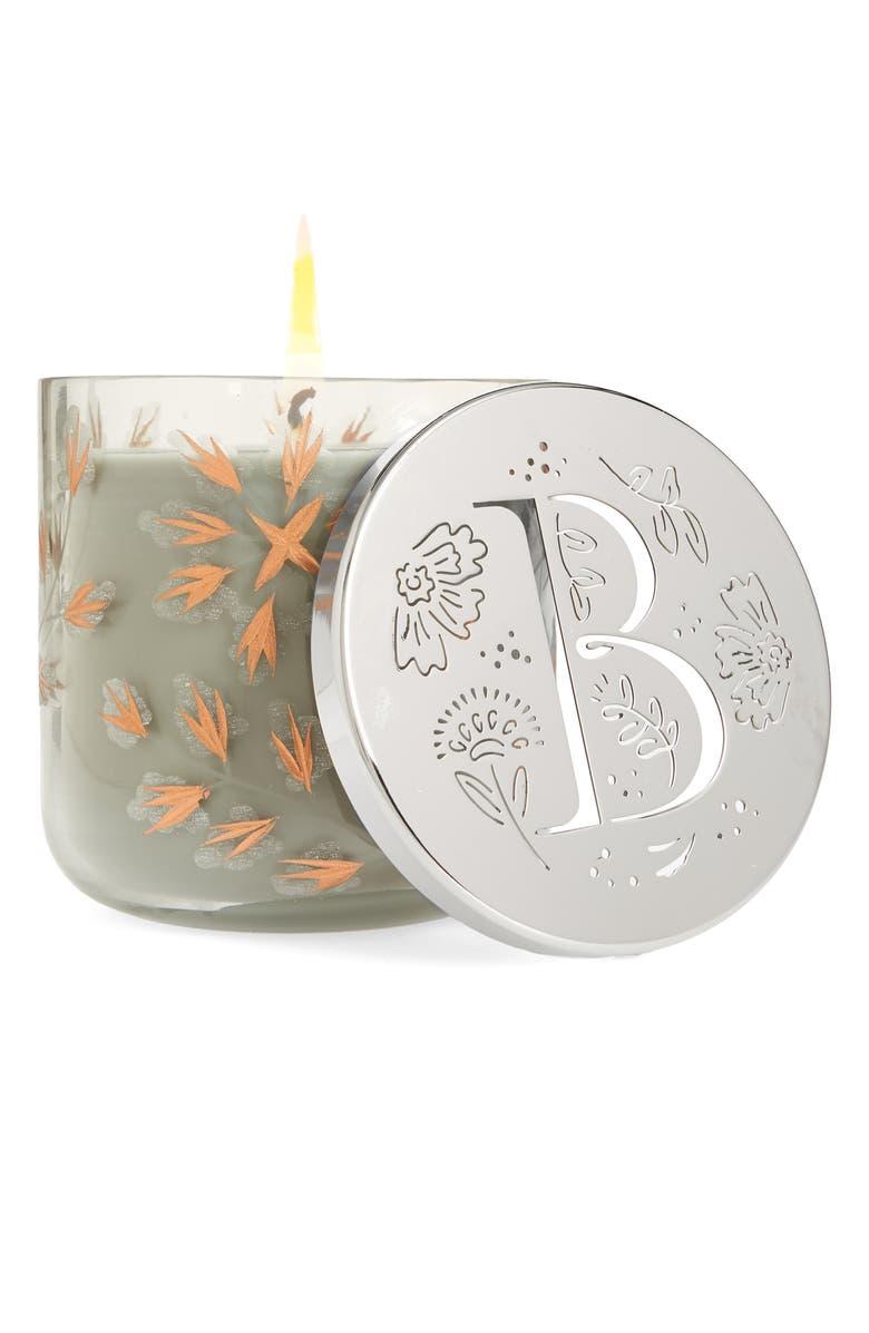 ANTHROPOLOGIE Lumi Monogram Scented Candle, Main, color, B