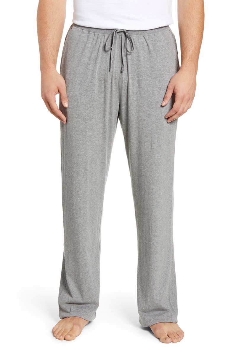 DANIEL BUCHLER Stretch Cotton & Modal Lounge Pants, Main, color, GREY
