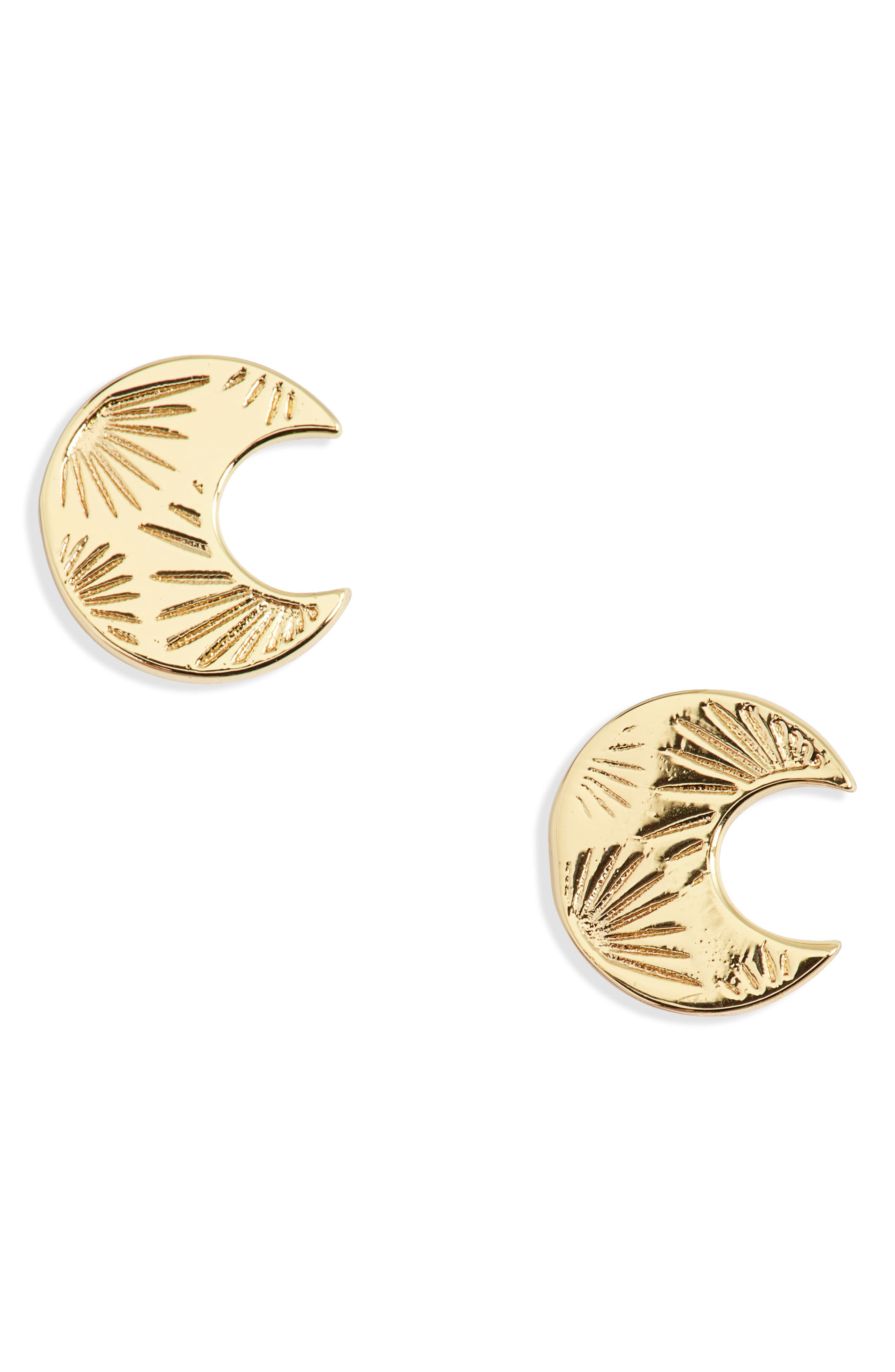 Image of Gorjana Azul Crescent Stud Earrings