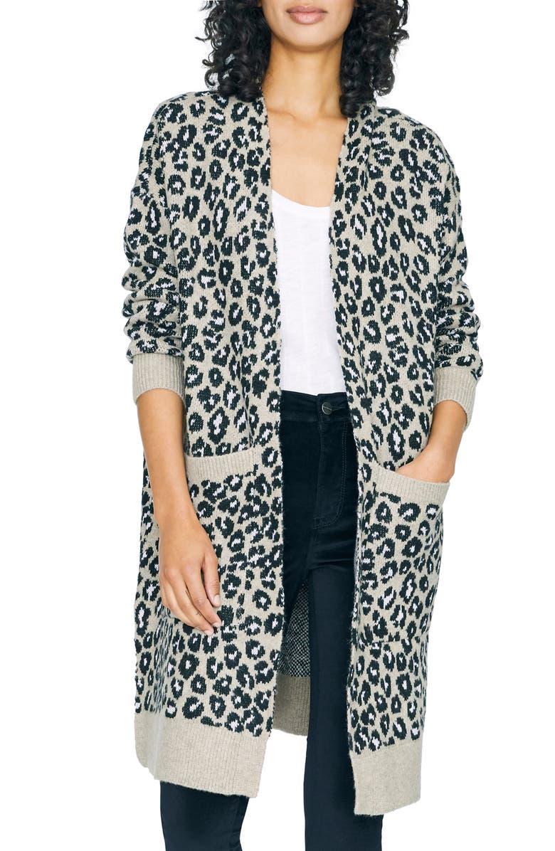 SANCTUARY Cat's Meow Leopard Print Cardigan, Main, color, LEOPARD JACQUARD