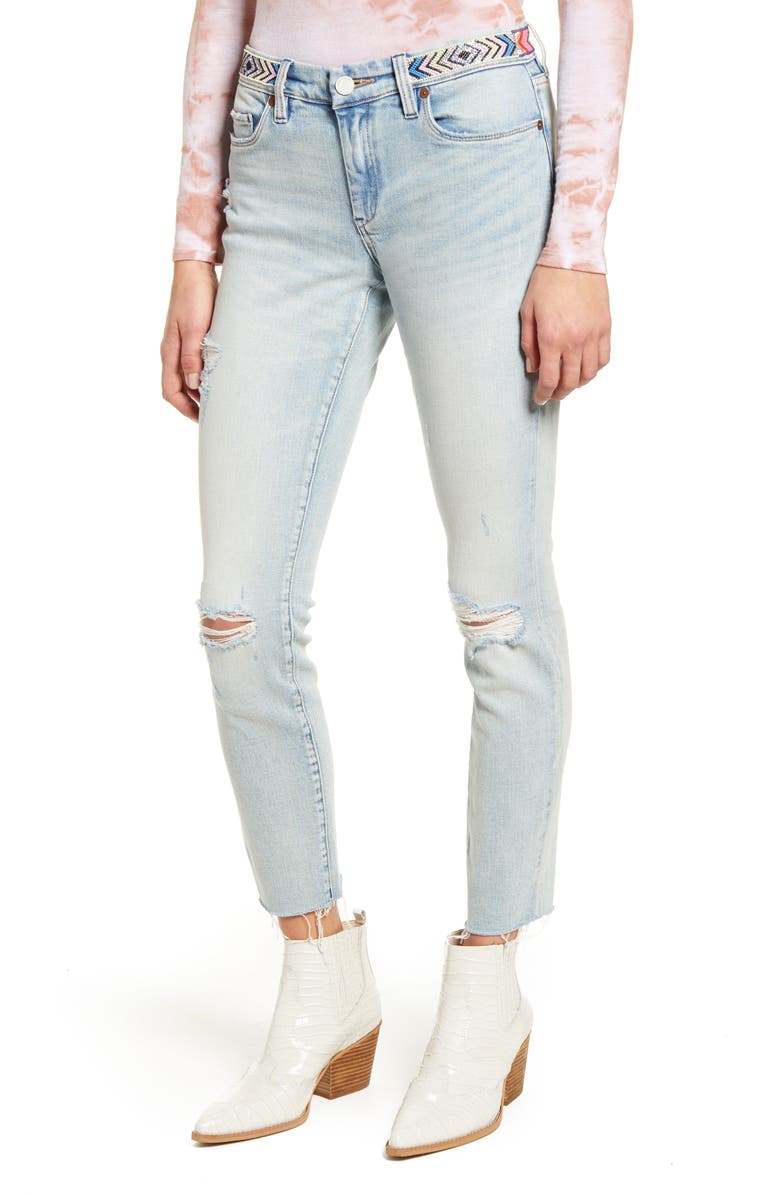 BLANKNYC Indigo Reade Crop High Waist Jeans, Main, color, NASHVILLE