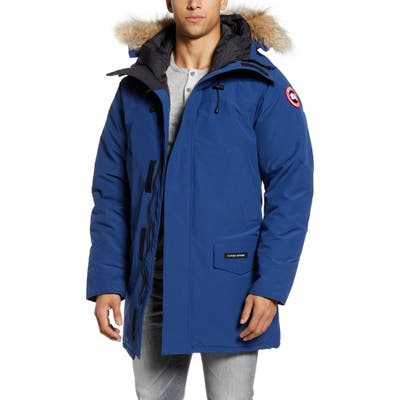 Canada Goose Langford Slim Fit Down Parka With Genuine Coyote Fur Trim, Blue