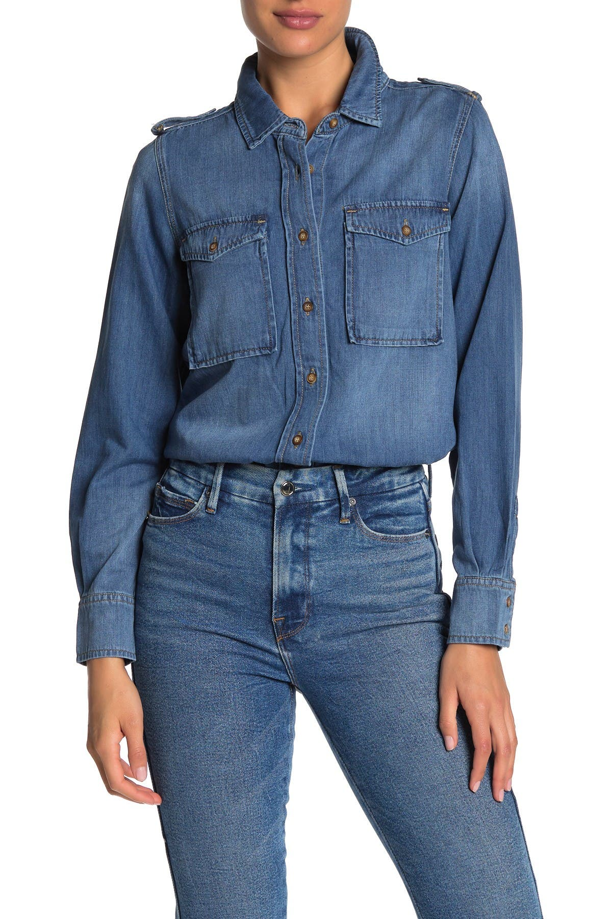 Image of Good American The Work It Denim Shirt