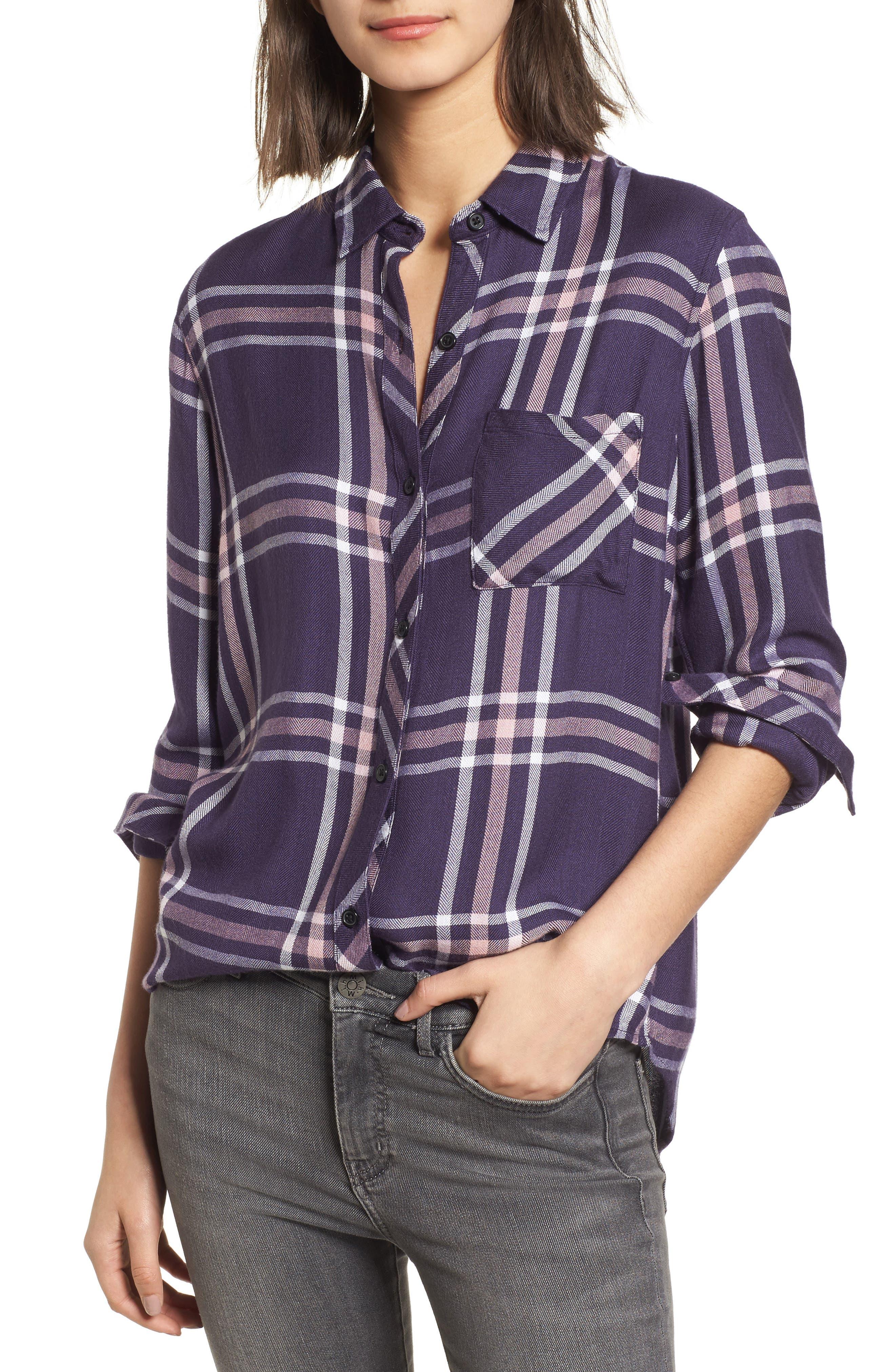 ,                             Hunter Plaid Shirt,                             Main thumbnail 749, color,                             404