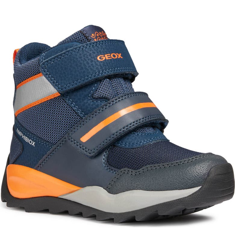 GEOX Orizont ABX Waterproof Boot, Main, color, BLUE/ORANGE