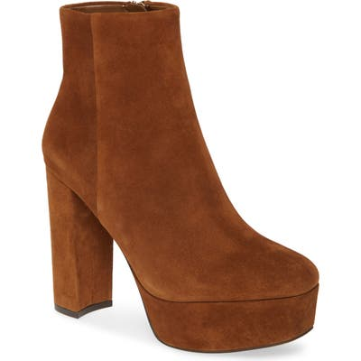 Vince Camuto Leslieon Square Toe Platform Boot- Brown
