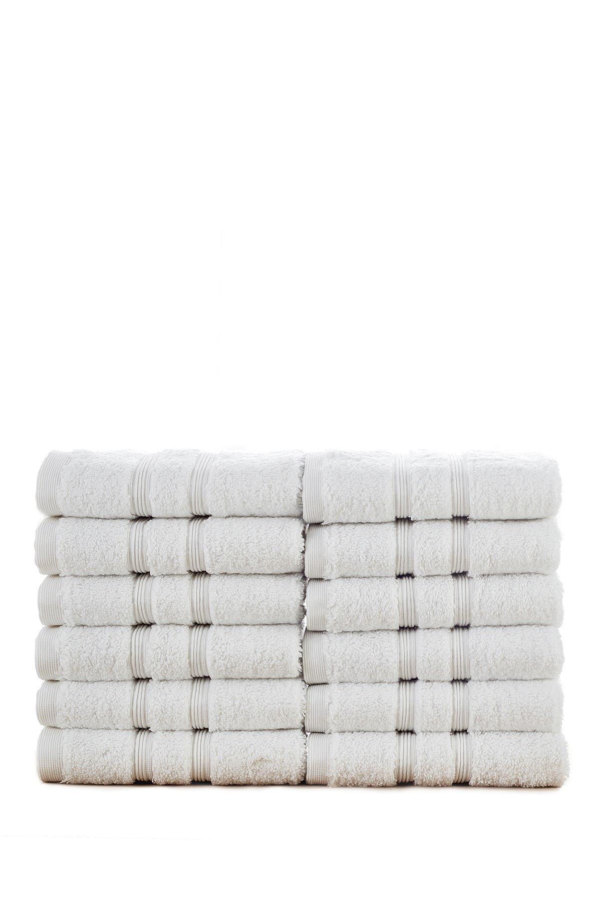 Image of Modern Threads Manor Ridge Turkish Cotton 700 GSM Wash Cloth - Set of 12 - White