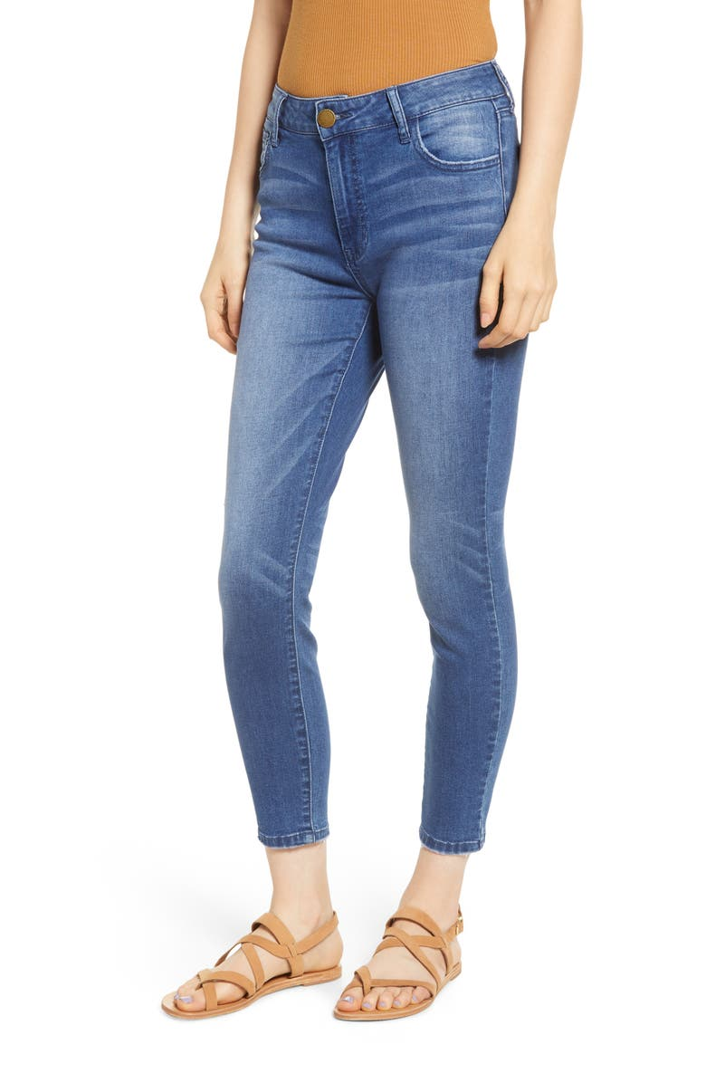 Prosperity Denim Seam Pocket Crop Skinny Jeans