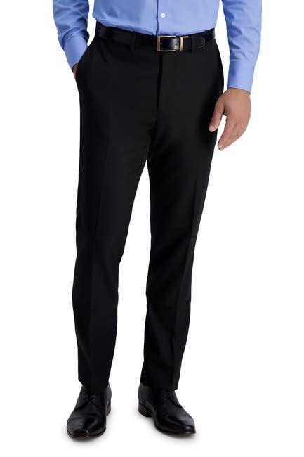 Image of Louis Raphael Skinny Fit Stretch Gabardine Solid Pants