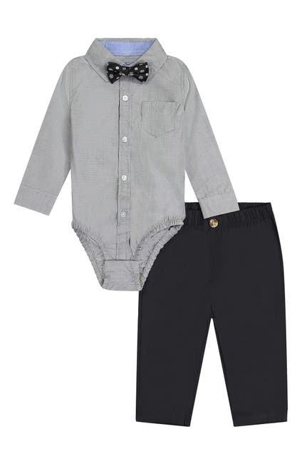 Image of Andy & Evan Holiday Bodysuit, Pants & Bow Tie Set