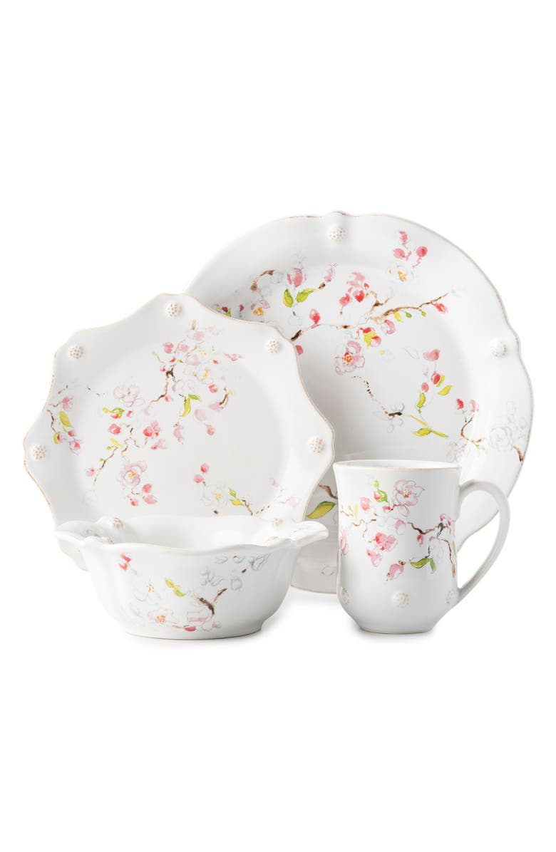 JULISKA Cherry Blossom 4-Piece Place Setting, Main, color, WHITE MULTI