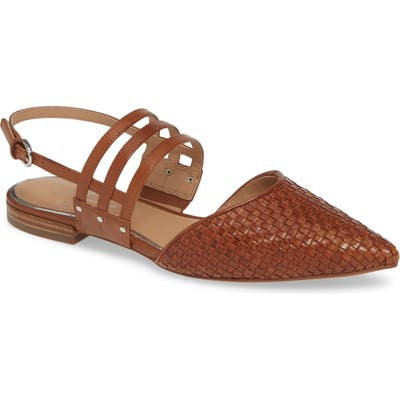 Linea Paolo Dahlia Pointy Toe Flat, Brown