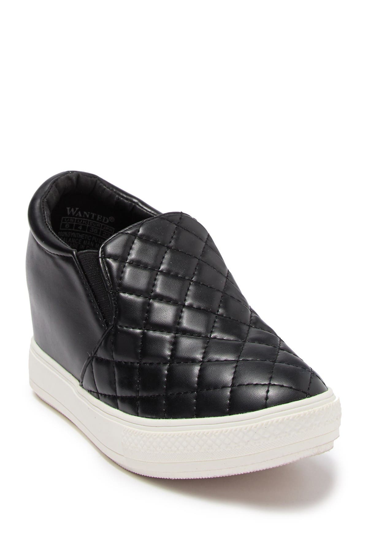Wanted   Quilted Hidden Wedge Sneaker
