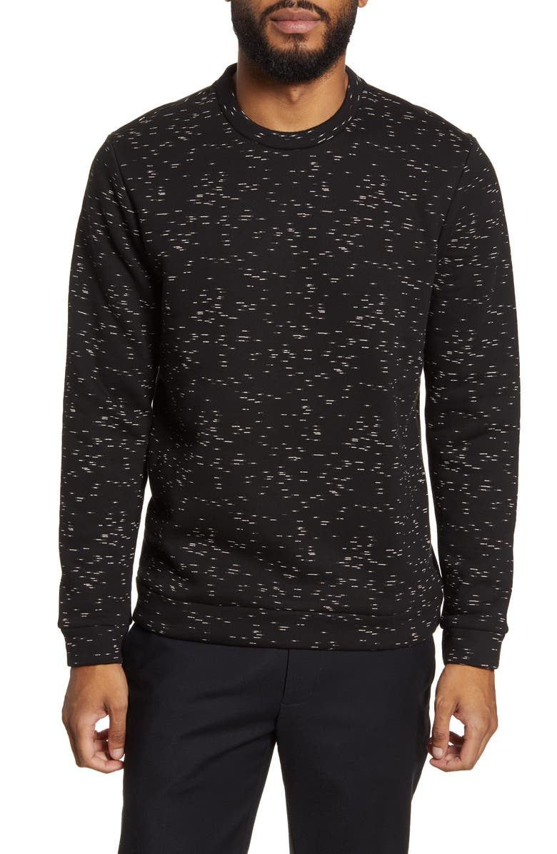 CALIBRATE Printed Fleece Sweatshirt, Main, color, 001