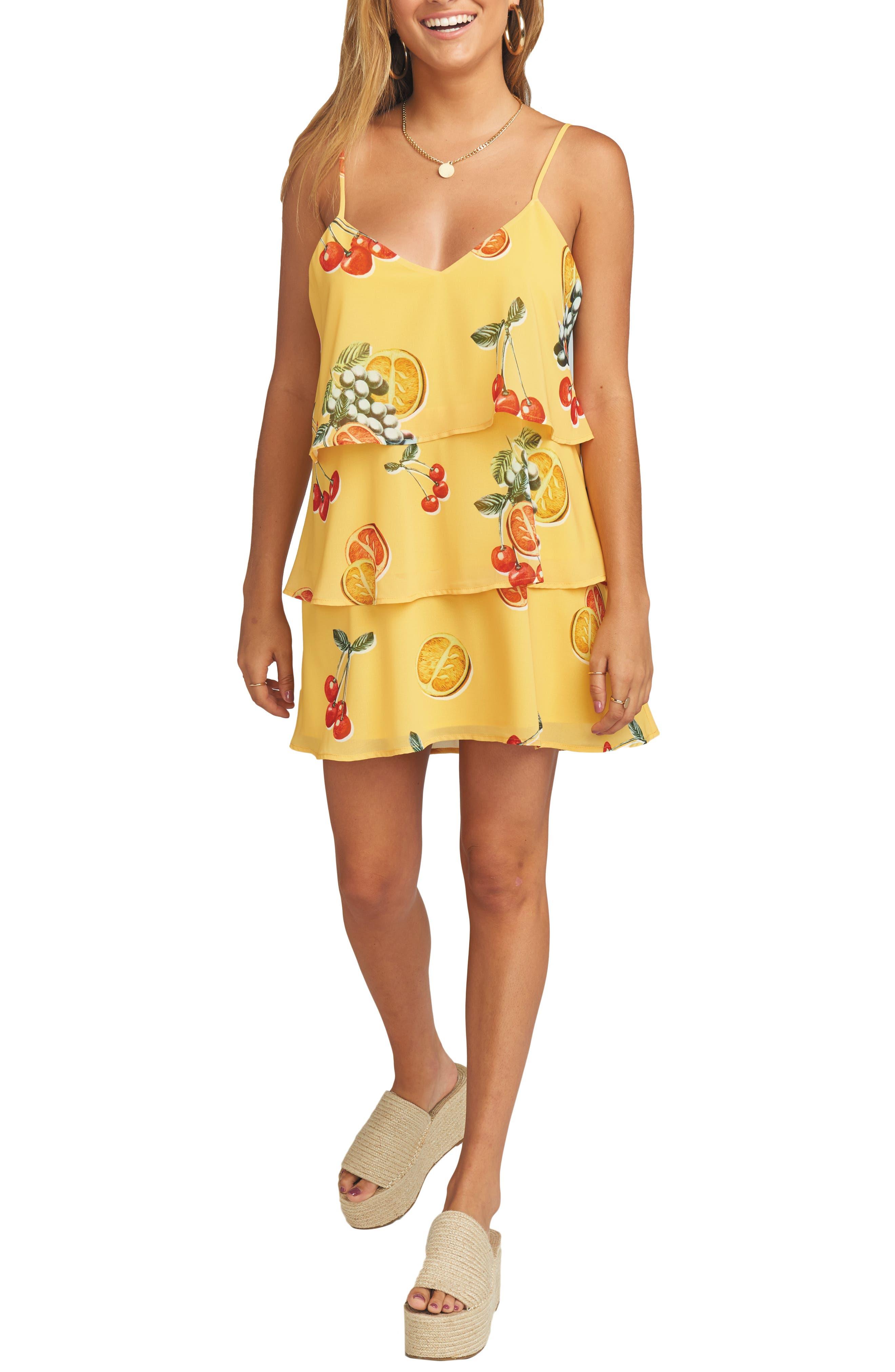 Show Me Your Mumu Suarez Tiered Dress, Yellow
