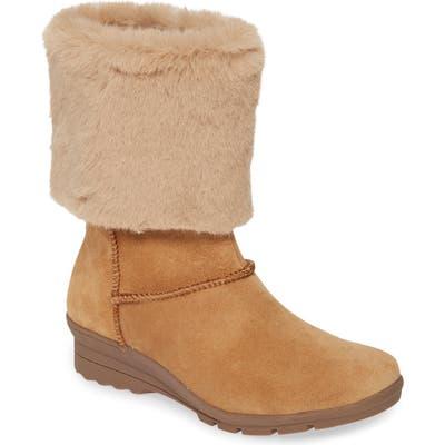 Taryn Rose Erica Faux Fur Weatherproof Boot, Brown