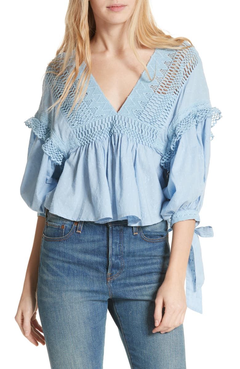 FREE PEOPLE Drive You Mad Blouse, Main, color, 400