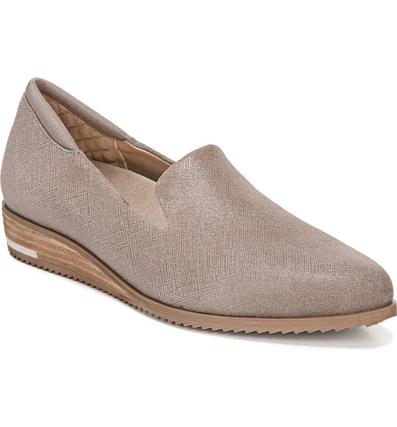 DR. SCHOLL'S Kewl Loafer, Main, color, TAUPE GREY LEATHER