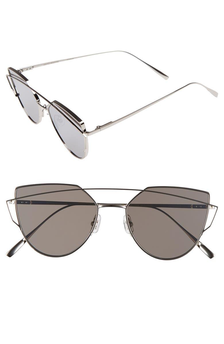 GENTLE MONSTER 'Love Punch' 55mm Titanium Aviator Sunglasses, Main, color, 040