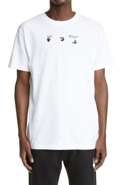 OFF-WHITE PEACE WORLDWIDE GRAPHIC TEE