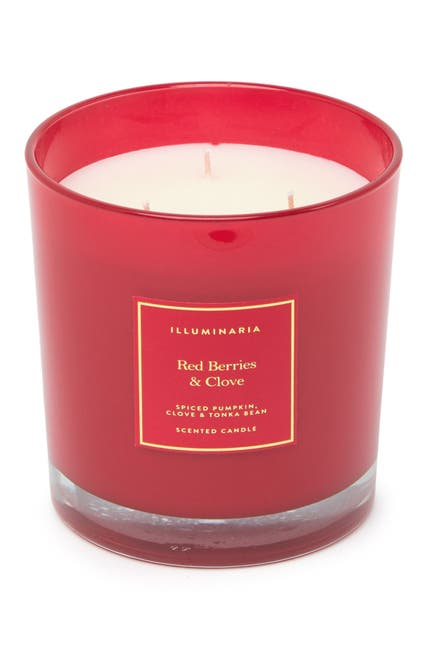 Image of Zodax Red Berries & Clove XL Candle Jar - Red