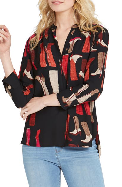 Nic + Zoe Tops THESE BOOTS PRINT TOP