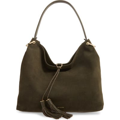 Ted Baker London Demmi Double Tassel Leather Hobo - Green