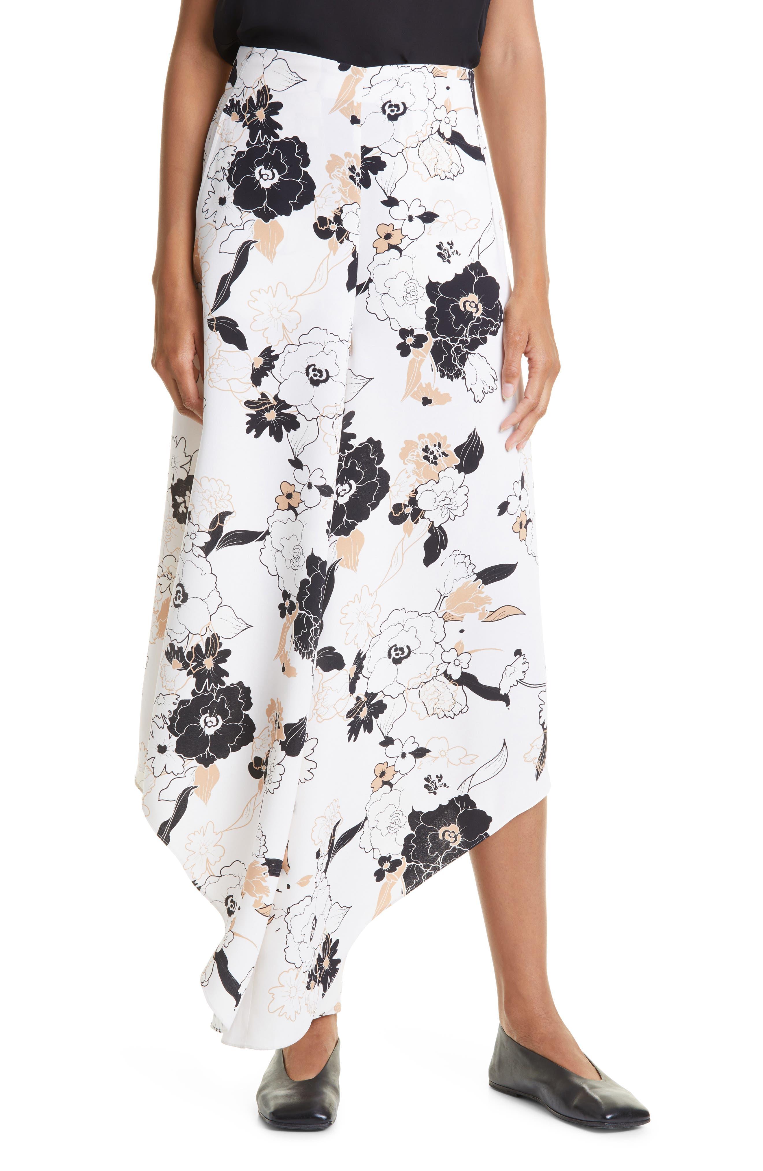 Margot Asymmetric Silk Palazzo Pants